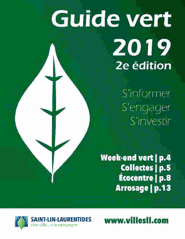 Page couverture Guide vert 2019